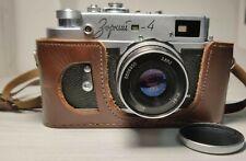 Russian Zorki-4 Industar-61 2.8/52 lens and case! RF film camera Leica Copy