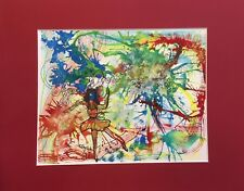 Abstract 8x10 painting Tiny Dancer Mixed Media Art with mat by Penny Lee StewArt