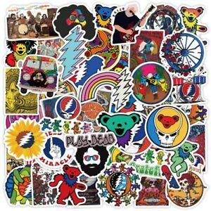 50Pcs Grateful Dead Rock Band Vinyl Stickers Decal Logo Waterproof Sticker
