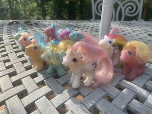 Vintage G1 MLP My Little Pony Lot of (10) Baby Ponies!