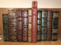 EASTON PRESS FULL LEATHER BOOKS! 10 Volumes W Original Paperwork Some Scuffs