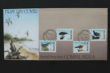 SINGAPORE 1984 FDC Coastal birds with leaflet