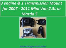 4 Pieces, Engine & Transmission Mount for 2006 - 2011 Mini Van or Mazda 5 2.3L
