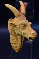 XL Size Mountain Goat Pipe BY SADIK YANIK Block Meerschaum-NEW W CASE#708