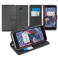Orzly ONEPLU Multifunction Wallet Card Holder Case Cover for One Plus 3 - Black