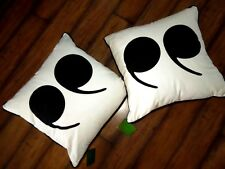 """2 KATE SPADE New York Throw Pillow Quotation Marks Accent BLACK White """" Feather"""