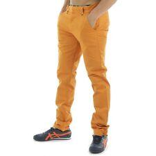 "BNWT WeSC Eddy Da Uomo Pantaloni Chino Pantaloni Chino Pantaloni Rusty Arancione 29"" x 32"""