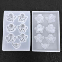 1X Silicone Angel Resin Mold for DIY Jewelry Pendant Making Mould Handmade Craft