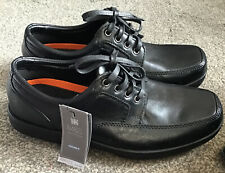 Mens Marks & Spencer AirFlex Extra Wide Fit Black Shoes Size UK7 Lace Up