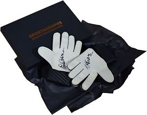 Tommy Lawrence SIGNED Pair Goalkeeper Gloves Autograph Gift Box Liverpool PROOF
