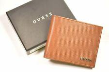 Guess 31GO220035 Men's RFID Blocking Security Tan Bifold Wallet