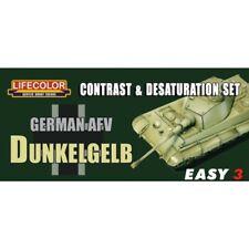Lifecolor MS01 German AFV Dunkelgelb Easy 3 Acrylfarbe 3x22 ml (100ml=13,64€)