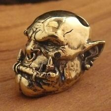 ORC Orgrim WarCraft COLLECTIBLE PARACORD LEATHER LANYARD BEAD HAND-CAST METAL