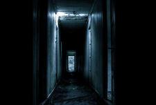 Framed Print - Dark Dank Corridor of an Abandoned Hotel (Picture Poster Art)