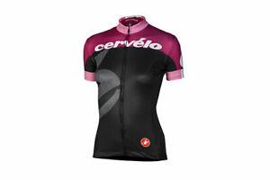 Cervelo Women's Team Jersey Large Black/Marsala/Rose Castelli Donna Cycling NEW