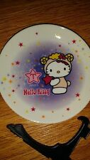 hello kitty arias plate collectable with stand mini