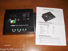 30 AMP 12/24V Solar  charge controller solar panels+ unique  lighting feature