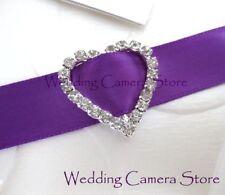 12 Heart Rhinestone Ribbon Buckles for Wedding Card