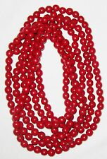 "Burgandy Red 1/2"" Ball Bead 11 Foot Garland Decoration"