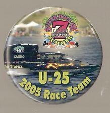 """2005 Silver Dollar Casino U-25 3 1/2"""" Unlimited Hydroplane Button"""