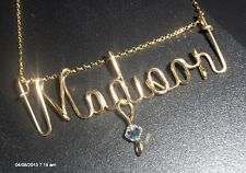 Personalized Necklace  14 K Gold Filled  ANY NAME  wire wrap jewelry 18 inches