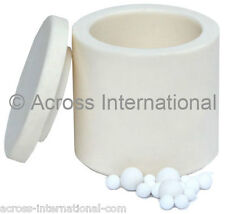 100ml Alumina Ceramic Lab Planetary Ball Mill Grinding Jar w/ Ball Media