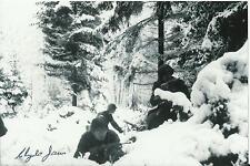 2nd LT. Clyde James 4x6 Signed Photo World War 2 Europe Germany Korean Vet