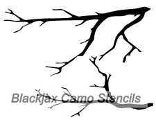 Camo Tree Limbs Large Airbrush Stencil,Camouflage