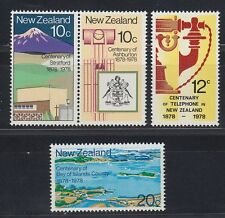 NEW Zealand 1978 ** mi.736/39 città city landscape scheda Maps Sea [sq4210]