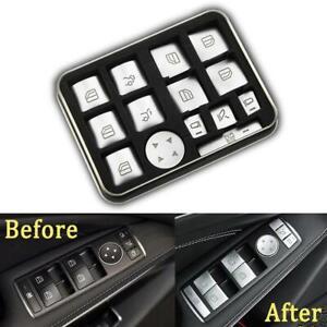 for Mercedes Benz Windows Button Stickers Decals Repair Worn Button Knob Switch