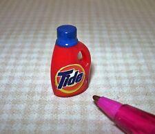 Miniature Orange Liquid Laundry Detergent Bottle, Dark Blue Cap: DOLLHOUSE 1/12