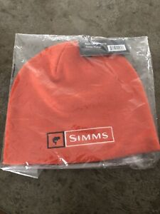 Simms Fly Fishing Bass Lockup Beanie Cap / Hat - Hunter Orange - NEW!