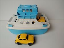 Green Toys Ferry Boat W/ 2 Cars Recycled Plastic Bathtub Pool Toy USA