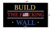 2 PACK Build The Wall American Flag Vinyl Decal Sticker Made USA Maga Trump 2020