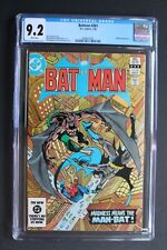 BATMAN #361 1st HARVEY BULLOCK 1983 TV's GOTHAM Man-Bat Jason Todd CGC NM- 9.2