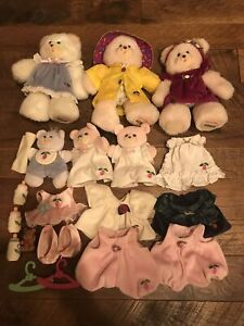 Vintage lot Briarberry Bear Fisher Price collection W Clothes Bottles