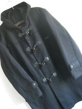 PAUL & SHARK | Men's Navy Blue Wool Blend MADE IN ITALY Hooded Duffel Coat | M L