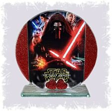Star Wars, Force Awakens,Glass Round Plaque, Limited Edition Cellini Plaques