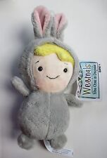"""drwr Gray Bunny BABY in costume WEEMALS Plush beanie 5"""" Ganz nwt rabbit easter"""