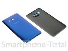 Original HTC u11 back Carcasa Tapa batería Tapa de vidrio cáscara lente cámara azul