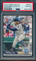 PSA 10 FERNANDO TATIS JR 2019 Topps Bowman Holiday Batting Rookie RC GEM MINT