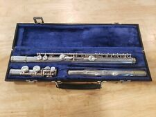 Emerson ELD silver plated Flute Serial No. D02374 1 with case