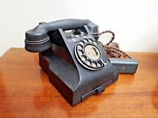 1940's Black Bakelite GPO Telephone 328F On/Off Model Pull-Out Tray