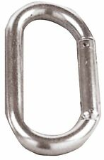 D Ring Carabiner - Silver - Mountain Climbing And Rappelling Gear