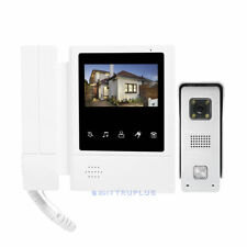 4.3'' TFT Video Door Phone Kit with Colour NightVision & Electric Lock Supported