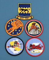 5 Tuskegee Airmen Unit Patches-332nd-99th-100th-301st-302nd