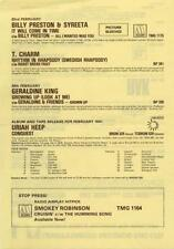 Uriah Heep Ronnie Laws Michael Jackson Billy Preston & Syreeta T.Charm Flyer