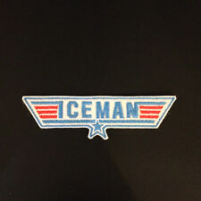 Top Gun Iceman embroidered patch, badge Iron on or Sew On