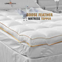 Best Quality Luxury Soft Goose Feather Down Mattress Topper Washable Super King
