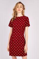 Louche Noora Red Heart Print Cord Mini Dress Size 8  **LOOK**